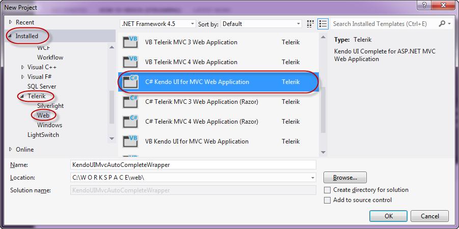 Kendo AutoComplete Wrapper for ASP NET MVC | Telerik Helper