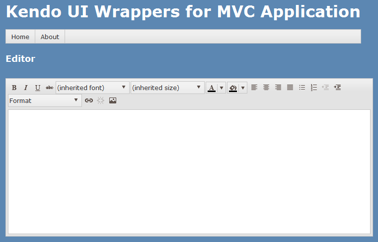 Kendo Editor Wrapper for ASP NET MVC | Telerik Helper - Helping
