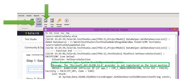 Error Solved: Binding Excel file as Data Source in Test Studio