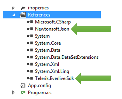 How to fetch data from Telerik Everlive in a  NET
