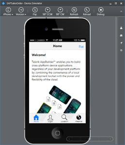 Kendo UI Default Mobile App
