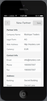 Mobilizing your SAP Data with Kendo UI Mobile – New Partner Screen – Part 4