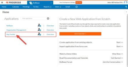 Rollbase Account With Applications