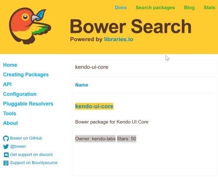 Bower Package Search