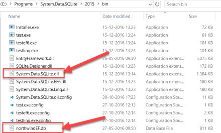 SQLite Installation Folder